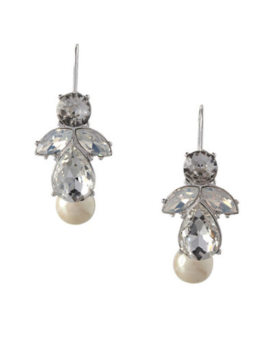 Bcbgeneration Faux Pearl Crystal Wire Earrings-ASSORTED-One Size