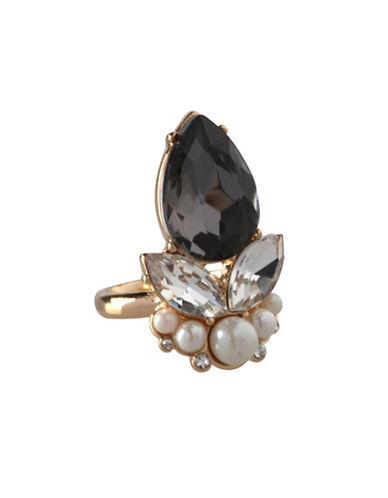 Bcbgeneration Faux Pearl and Multi-Stone Ring-ASSORTED-One Size
