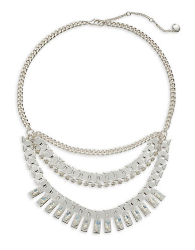 Bcbgeneration Crystal Bib Necklace-ASSORTED-One Size