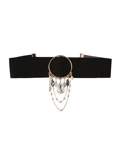 Bcbgeneration Crystal Ring Choker Necklace-ASSORTED-One Size