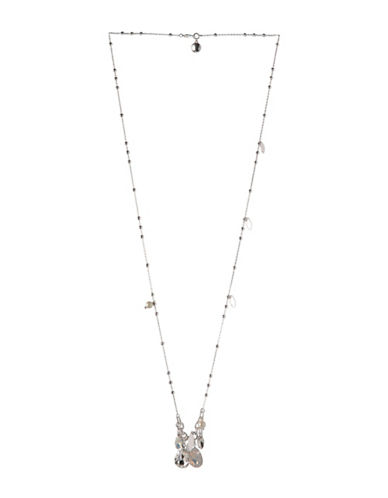 Bcbgeneration Long Crystal Pendant Necklace-ASSORTED-One Size