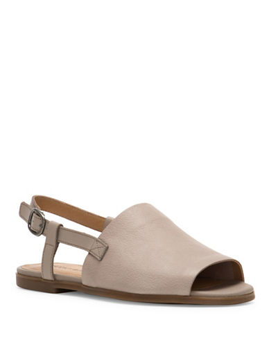 Lucky Brand Campbell Leather Slingback Sandals-GREY-9