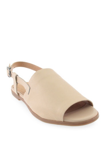 Lucky Brand Campbell Leather Sandals-BISCUIT-6.5