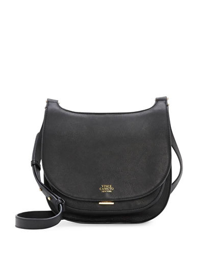 Vince Camuto Elyza Leather Crossbody Bag-BLACK-One Size