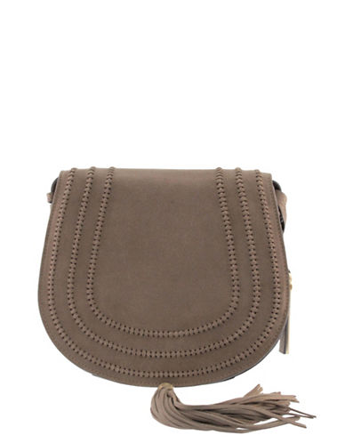 Vince Camuto Izzy Suede Handbag-BEIGE-One Size