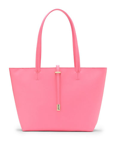 Vince Camuto Leila Textured Small Tote-GARDEN ROSE-One Size