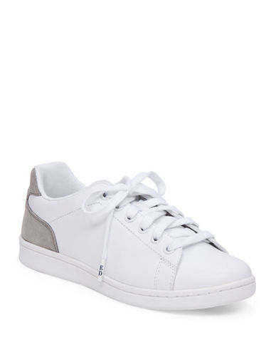 Ed Ellen Degeneres Chapala Classic Leather Sneakers-WHITE-9.5