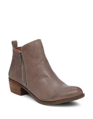 Lucky Brand Basel Leather Booties-GREY-9