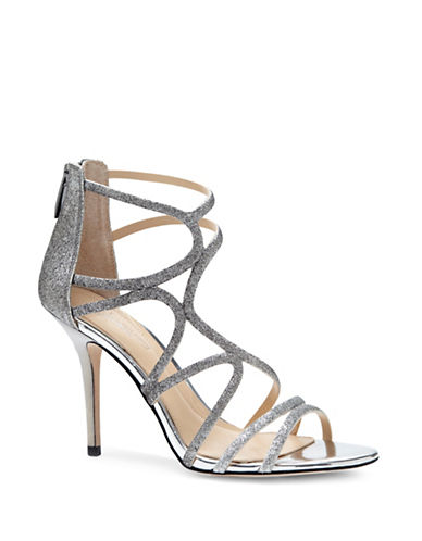 Vince Camuto Ranee Strappy Sandals-PLATINUM-8.5