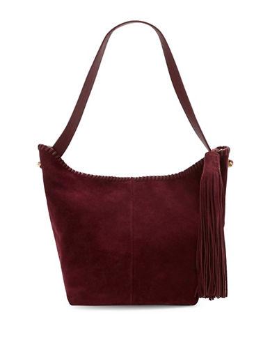 Vince Camuto Aiko Suede Hobo Handbag-PLUM-One Size