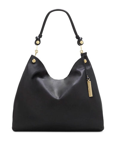 Vince Camuto Ruell Leather Hobo Bag-BLACK-One Size