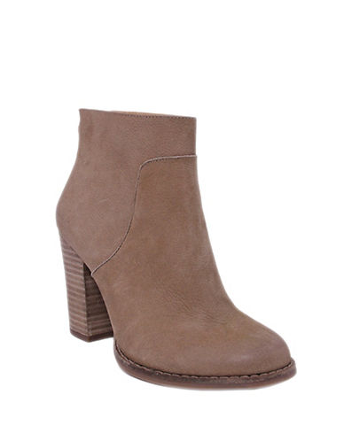 Lucky Brand Liesell Nubuck Leather Ankle Boots-LIGHT BROWN-6.5