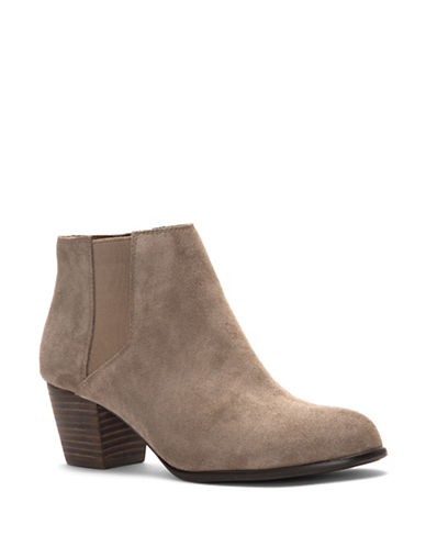 Lucky Brand Tulayne Suede Booties-BRINDLE-6.5