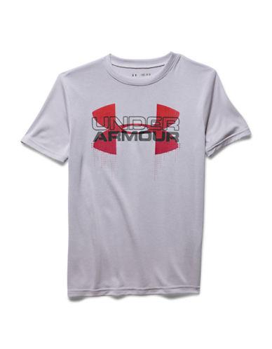 Under Armour Big Logo Hybrid Crew Neck T-Shirt-CLOUD GREY-Medium 88422818_CLOUD GREY_Medium