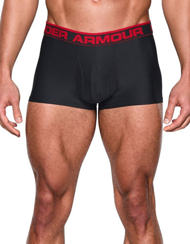 Under Armour Original Series Three-Inch Inseam Boxerjock Boxers-BLACK/RED-Medium