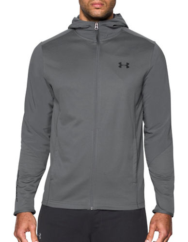 Under Armour ColdGear Infrared Grid Hoodie-GREY-X-Large 88867616_GREY_X-Large