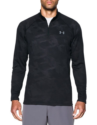 Under Armour Tech Jacquard Quarter-Zip Top-BLACK-Large 88443804_BLACK_Large