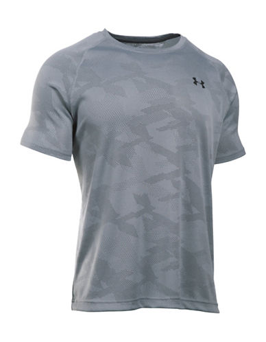Under Armour Jacquard Fuller Cut T-Shirt-STEELE-Large 88566809_STEELE_Large