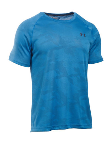 Under Armour Jacquard Fuller Cut T-Shirt-BLUE-Medium 88566813_BLUE_Medium