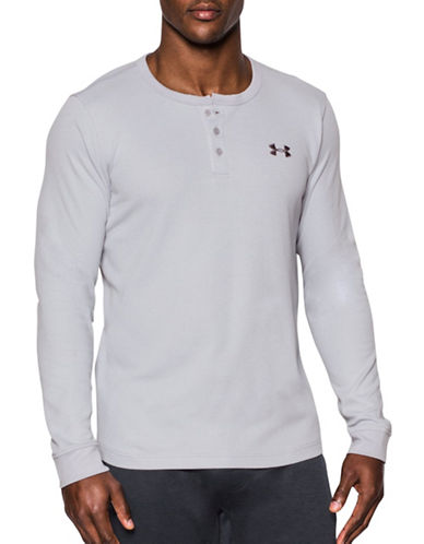 Under Armour UA Waffle Henley-GREY-Large 88790474_GREY_Large