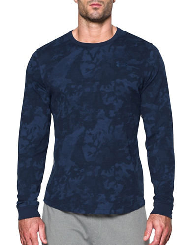 Under Armour UA Waffle Printed Crew Sweatshirt-MIDNIGHT-X-Large 88885597_MIDNIGHT_X-Large