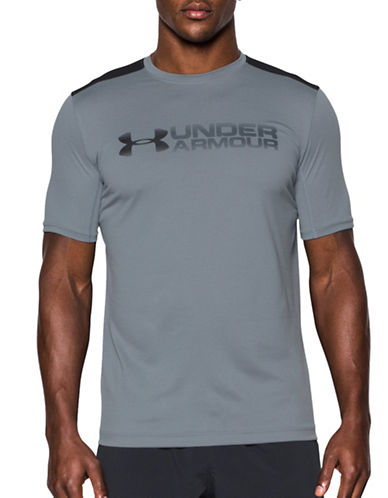 Under Armour Raid Turbo T-Shirt-GREY-X-Large 88867645_GREY_X-Large