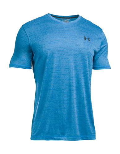 Under Armour UA Tech V-Neck T-Shirt-BLUE-Medium 88641814_BLUE_Medium