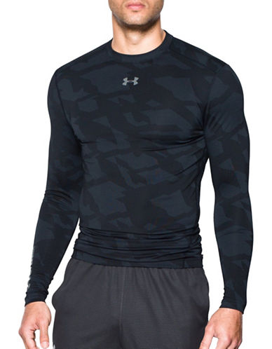 Under Armour Cold Gear Jacquard Crew Tech T-Shirt-BLACK-Large 88767555_BLACK_Large