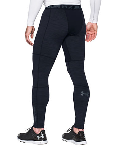 Under Armour Cold Gear Armour Twist Compression Leggings-BLACK-Medium 88767524_BLACK_Medium