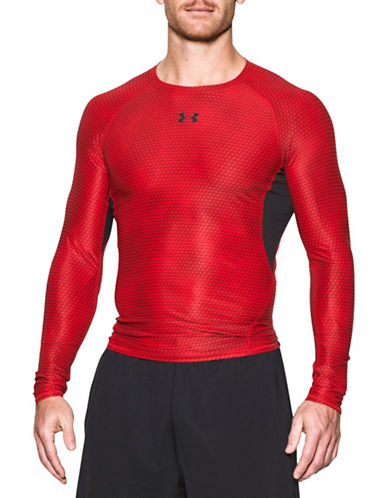 Under Armour Heat Gear Printed Compression Shirt-RED-X-Large 88767466_RED_X-Large