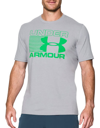 Under Armour Blitz Logo T-Shirt-GREY-Medium 88867624_GREY_Medium