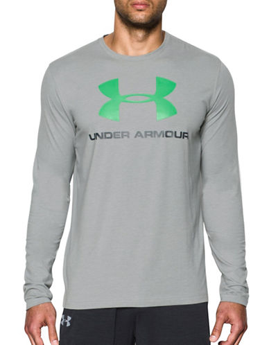Under Armour Sportstyle Four-Way Stretch T-Shirt-GREY-Medium 88867599_GREY_Medium