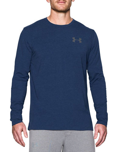 Under Armour Graphic Work Mark Long Sleeve T-Shirt-NAVY-Small 88443718_NAVY_Small