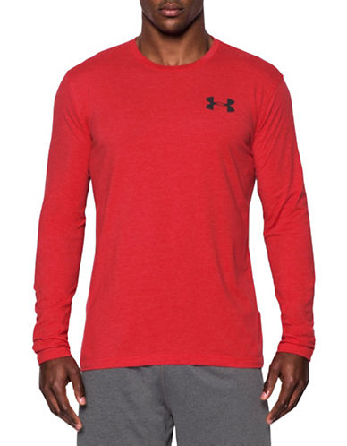 Under Armour Graphic Work Mark Long Sleeve T-Shirt-RED-X-Large 88443726_RED_X-Large
