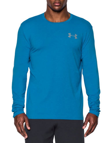 Under Armour Graphic Work Mark Long Sleeve T-Shirt-BLUE-X-Large 88443731_BLUE_X-Large