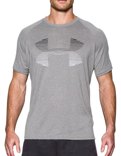 Under Armour Tech Horizon Logo T-Shirt-GREY-Medium 88867604_GREY_Medium