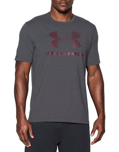 Under Armour Gameday Sportstyle Logo Short Sleeve T-Shirt-GREY-X-Large 88443711_GREY_X-Large