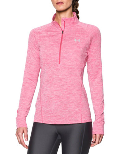 Under Armour Half Zip Twist Top-PINK-Medium 88594060_PINK_Medium