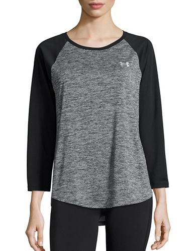 Under Armour HeatGear Loose-Fit Raglan Top-GREY-Small 88511629_GREY_Small