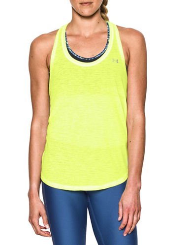 Under Armour Flowy Slub Knit Tank Top-YELLOW-Small 88511583_YELLOW_Small