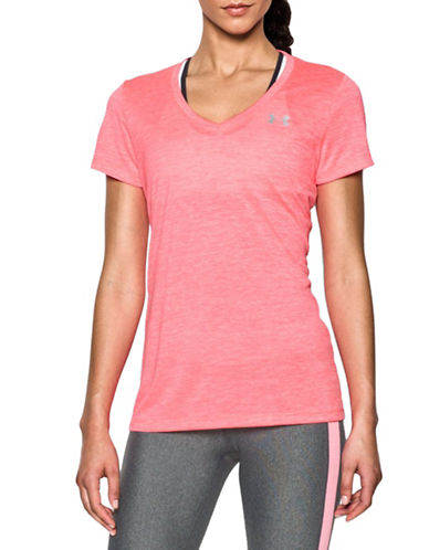 Under Armour V-Neck Twist Active T-Shirt-PINK-X-Large 88511525_PINK_X-Large