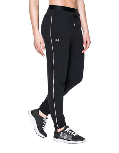 Under Armour Favorite Slim Leg Jogger Pants-BLACK-Large 88511590_BLACK_Large