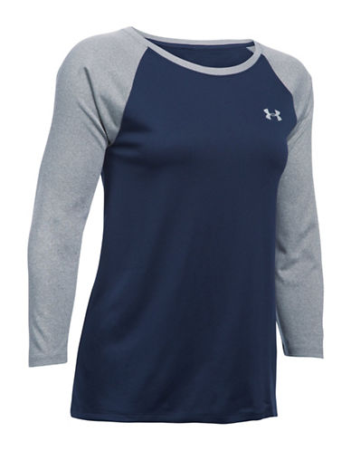 Under Armour Tech Raglan Sleeve Top-MIDNIGHT-Large 88511626_MIDNIGHT_Large