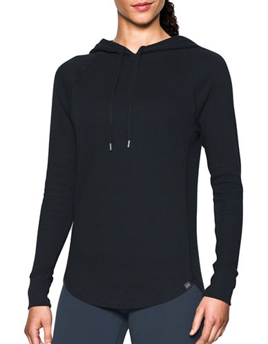 Under Armour Waffle Knit Hoodie-BLACK-X-Small 88799524_BLACK_X-Small