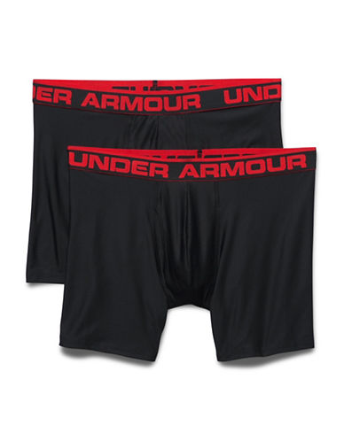 Under Armour Two-Pack Original Series 6-Inch Boxerjocks-BLACK-Medium