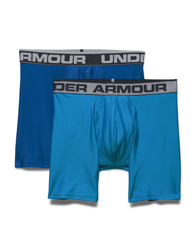 Under Armour Two-Pack Original Series 6-Inch Boxerjocks-BLUE-Medium