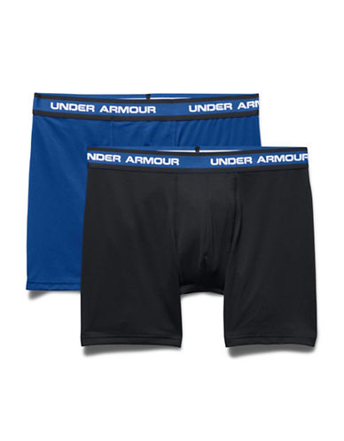 Under Armour Two-Pack Mesh Performance Boxerjocks-ROYAL BLUE/BLACK-Medium