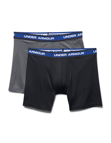 Under Armour Two-Pack Mesh Performance Boxerjocks-BLACK-Large