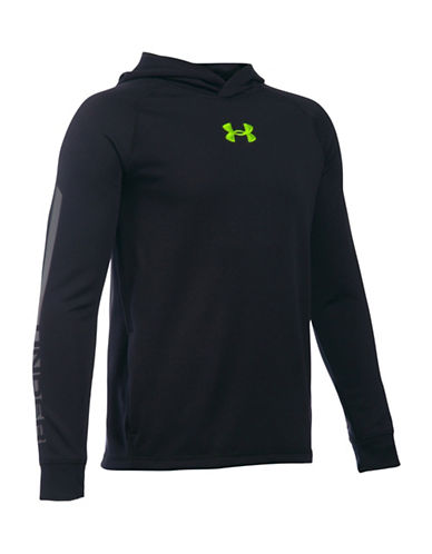 Under Armour Waffle Hoodie-BLACK-Large 88683434_BLACK_Large