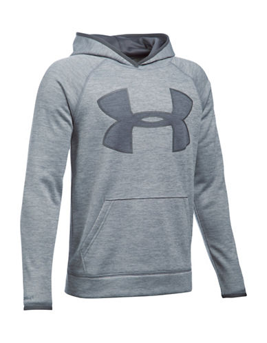 Under Armour Storm Armour Fleece Twist Big Logo Hoodie-STEEL-Medium 88509504_STEEL_Medium